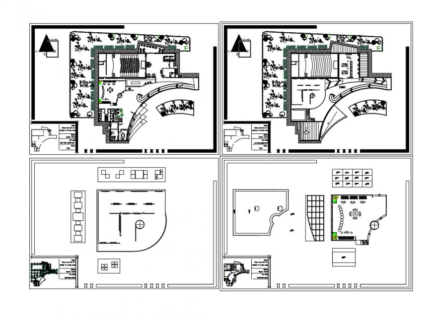 Floor Plan Layout Details Of Multi Flooring Art Gallery Cad Drawing Details Dwg File Cadbull