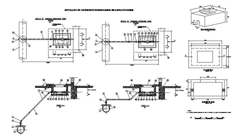 Home Electrical Connection And Riser Diagram Cad Drawing Details Dwg File