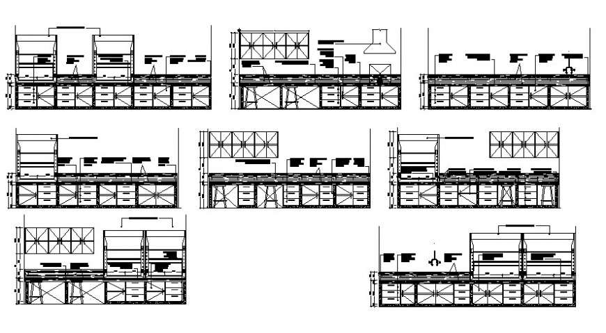 House kitchen cabinet and furniture cad drawing details ...