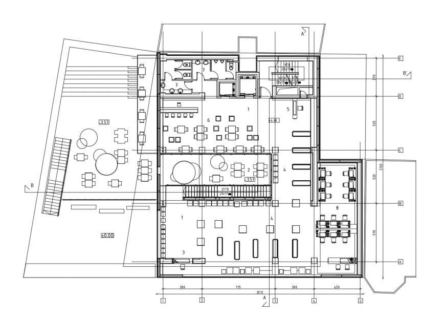 Internet Cafe Store Architecture Layout Plan Cad Drawing Details Dwg File Cadbull