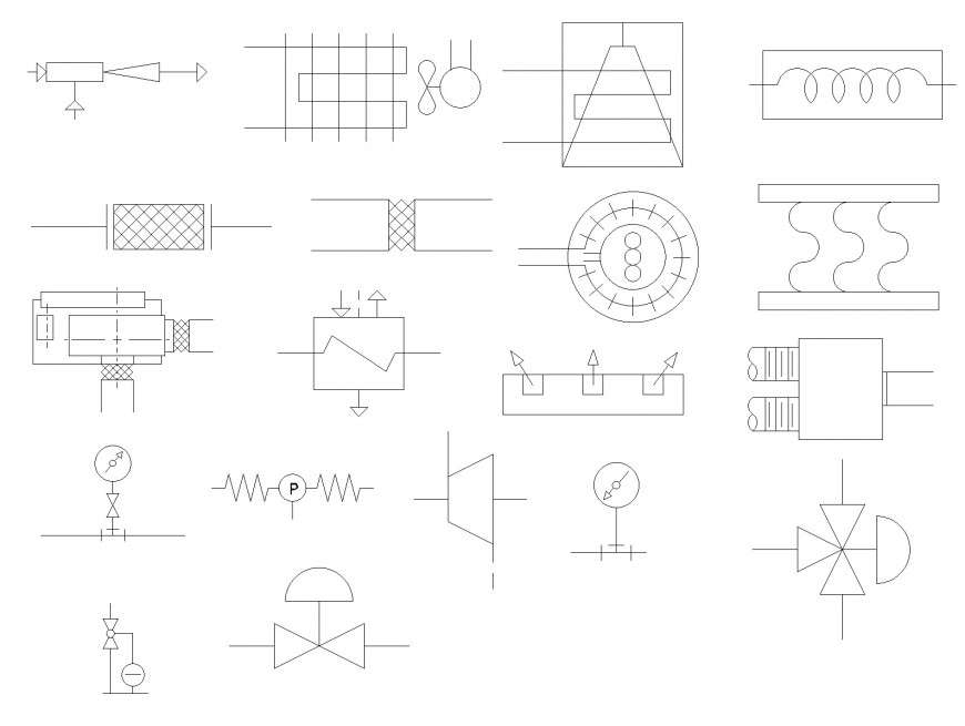 Mechanical HVAC symbols autocad file - Cadbull | Hvac Drawing Symbols Dwg |  | Cadbull