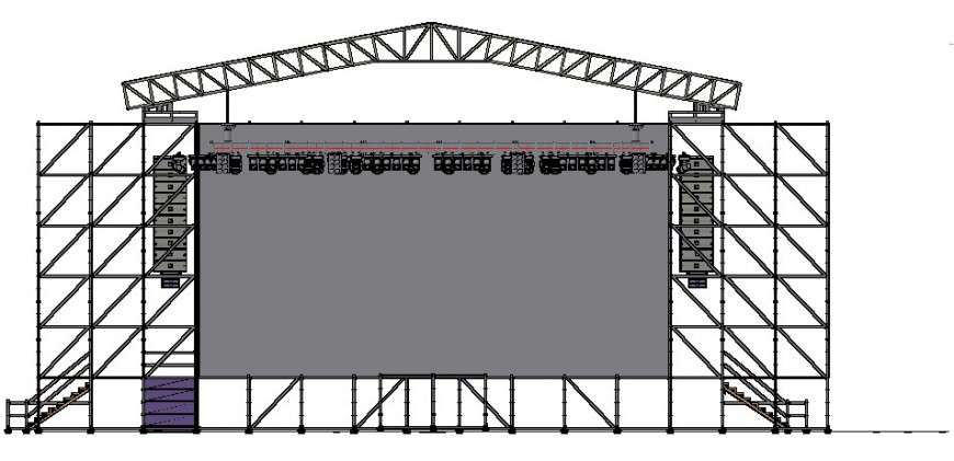 Roof Truss Detail Structure Drawing In Autocad Drawing Cadbull