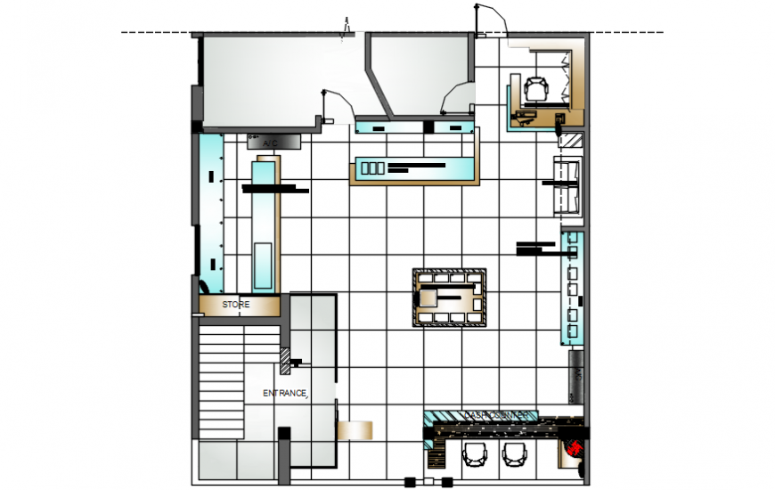 Small Office Layout Plan With Furniture Layout Cad Drawing Details Dwg File Cadbull