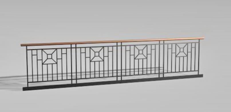 Free Railing Wall Elevation Design MAX File - Cadbull