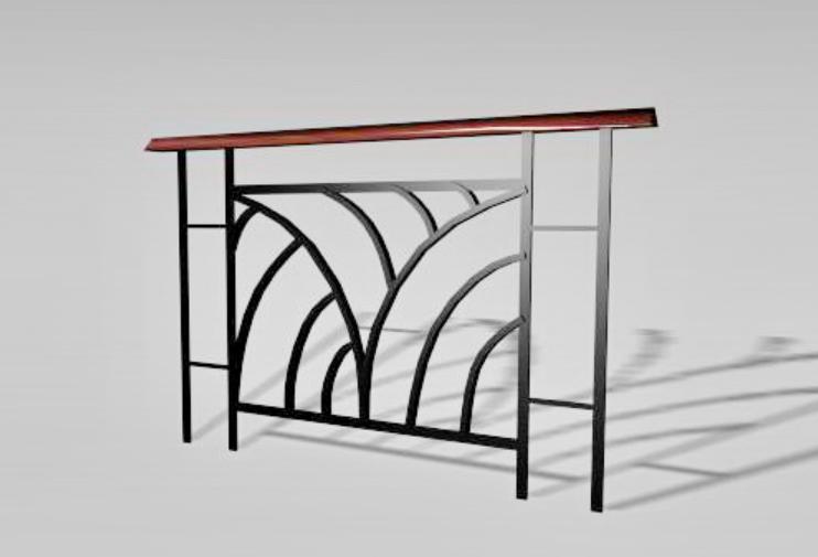 3d Iron Railing Design Free Download Max File - Cadbull