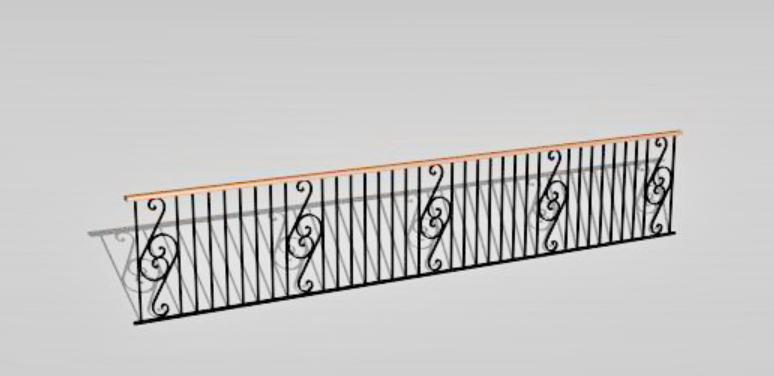 3d Railing Design Max File Free Download - Cadbull