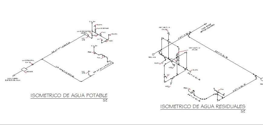 Water Irrigation And Plumbing Structure Details Of House Cad Drawing Details Dwg File